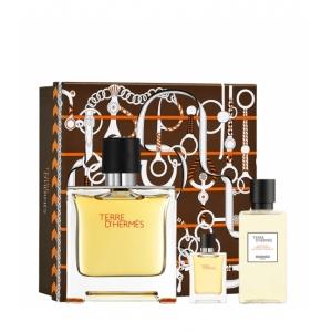 COFFRET TERRE HERMES  Parfum 75 ml + 2 Produits
